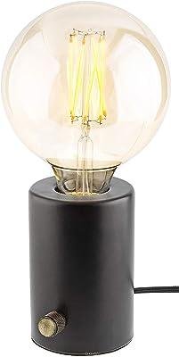 Gadgy ® Lampada da Tavolo Dimmerabile | Colore Nero | Illuminazione Retro Moderna Industriale e Vintage Design | con Edison LED Lampadina