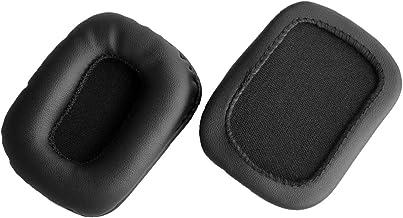 Oído reemplazo Pad almohadillas cojín de piel Reparación Piezas para Mad Catz Tritton Kama Stereo Gaming Headset Negro (earmuffes/cojín) (1par)