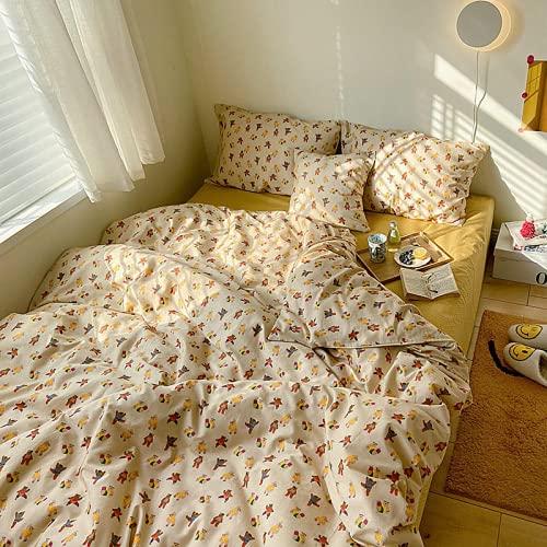 Sochampion - Set di biancheria da letto e lenzuolo matrimoniale, 5 pezzi, in microfibra, con federe, con cintura di lusso e tasca profonda lenzuolo morbido e resistente allo sbiadimento.