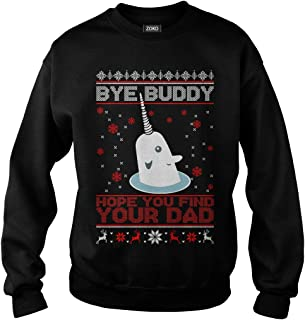 Zoko Apparel Bye Buddy Hope You Find Your Dad Ugly Christmas T-Shirt