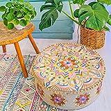 Mandala Life ART - Puf otomano de estilo bohemio, con relleno, de lujo,...