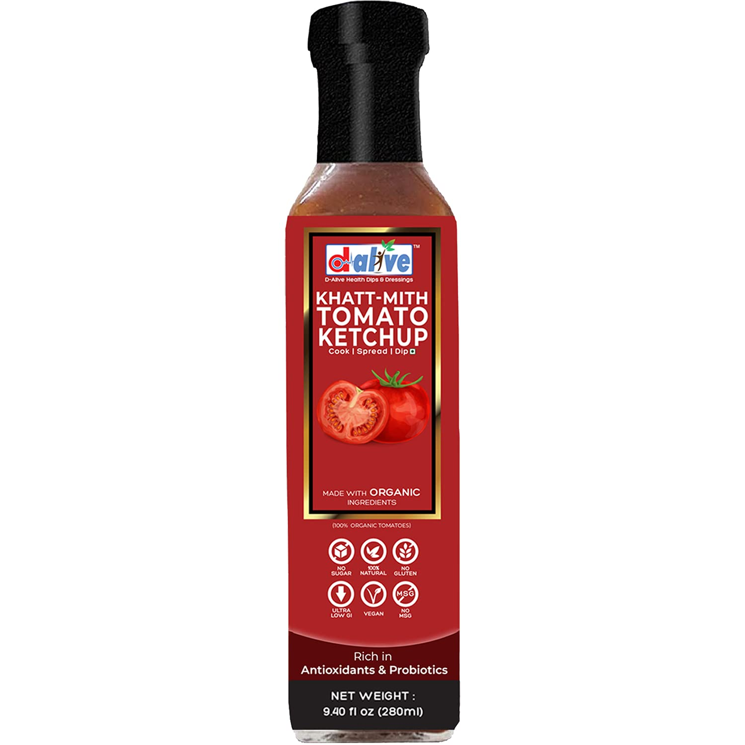 Organic Khatt-Mith Tomato Ketchup Cheap sale 9.40 oz. Glass - Max 59% OFF in B Packed