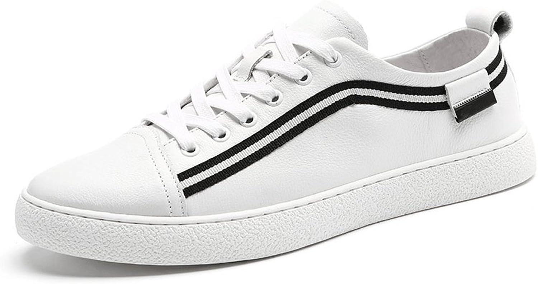 LIUXUEPING män Genuine läder vit skor sommar The The The ny Man Andable läder skor Genuine läder Casual skor Flat Trend vit skor (Färg  vit, Storlek  40)  wholesape billig