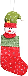 Jeash Merry Christmas Plush Santa Tree Hanging Gift Candy Large Socks Decoration Gift Bag for Christmas Tree