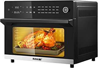 Maxkon 30L 18-in-1 Large Oil Free Air Fryer Oven Cooker 1800W Dual Cook Function Black