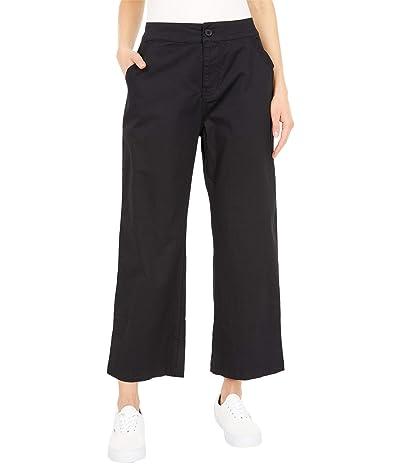 PACT Organic Cotton Wide Leg Crop Pants (Black) Women