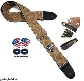 2 Wide 29-54 Length Celtic Knot Black//Burgundy//Gold Buckle-Down Guitar Strap