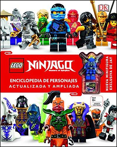 LEGO Ninjago Enciclopedia de personajes actualizada y ampliada: Incluye una Minifigura exclusiva de Jay