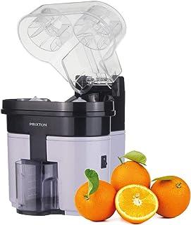 PRIXTON - Exprimidor Electrico de Naranjas Profesional para Zumo, Exprimidor Automatico con Doble Cabezal y Cortador Incop...