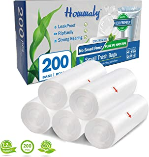 Small Clear Bathroom Trash Bags  100 1.2 Gallon Garbage Can liners