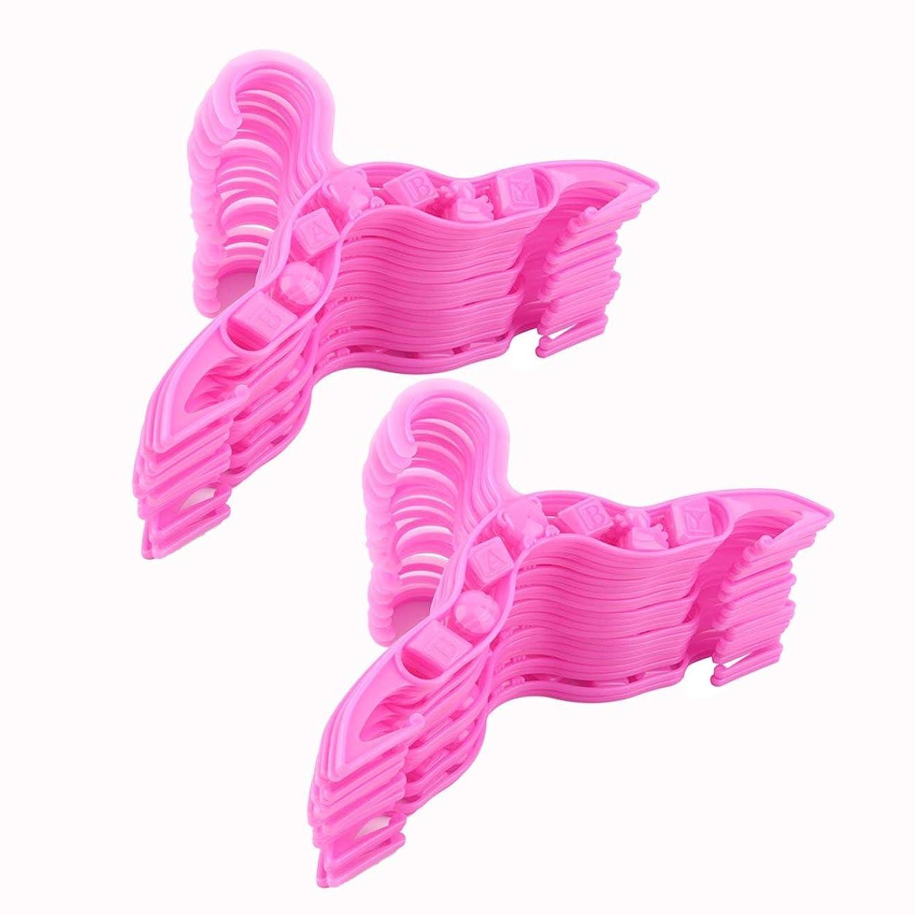 細胞ブロックコンパニオンSaikogoods 40個耐久性のあるプラスチックコート服ガーメントのズボンハンガー子供のためのベビーワールドワイド?ストア ピンク