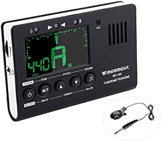 WINGO Digital Metronome ، Tuner and Tone Generator - 3 in1 دستگاه (سیاه) - برای کروماتیک ، گیتار ، باس ، Ukulele ، باتری ویولن