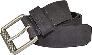 حزام جلدي بإبزيم دوار 40 مم رجالي من Timberland أسود 32