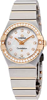 Constellation Diamond Mother of Pearl Dial Rose Gold and Steel Ladies Watch 12325276055001