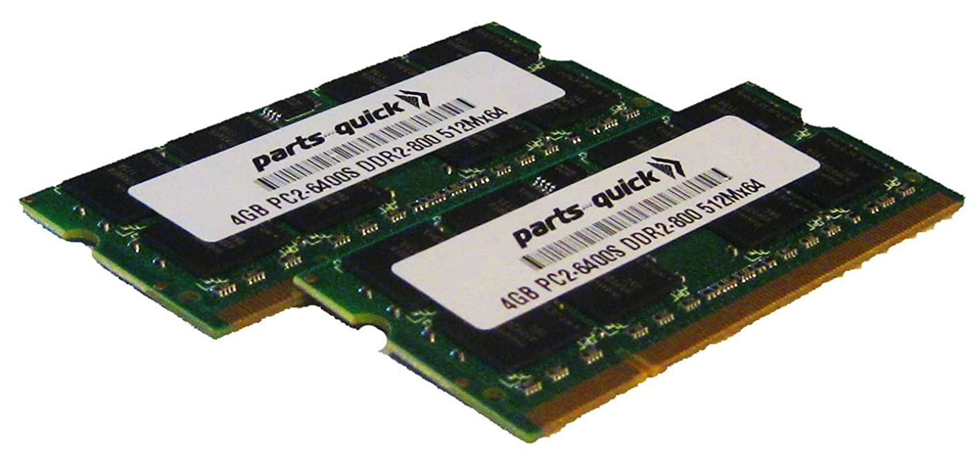 parts-quick 8GB 2X 4GB DDR2 PC2-6400 800MHz 200 pin SODIMM Laptop Notebook Memory RAM for Toshiba Satellite P300 P300D P305 P500 P500D P505 P505D Brand
