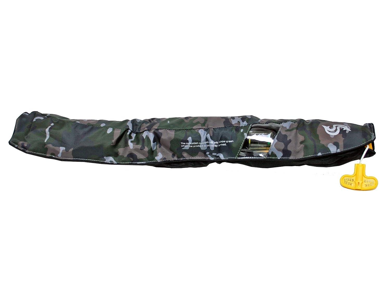 自動膨張式ライフジャケット ウェストベルトタイプ BSJ-5520RS グリーンカモ ブルーストーム 高階救命器具 国交省認定品 タイプA 検定品 桜マーク付