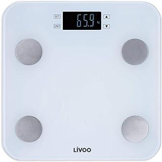 Báscula digital con análisis de la grasa corporal, de grasa corporal, peso de hasta 180 kg, masa muscular de agua, requerimiento de calorías