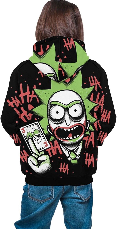 Teen Anime Printing Sweatshirt Loose Breathable Hooded Sweatshirt Youth Unisex Pullover, S-XL