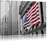 eindrucksvolle amerikanische Flagge schwarz/weiß Format: