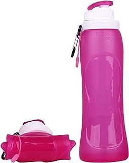 Libres de BPA Seguras Silicona de Grado M/édico Aprobada por la FDA EXIT Botella Plegable Botellas de Agua de Silicona para Viajar de Primera Calidad Frasco de 26 oz