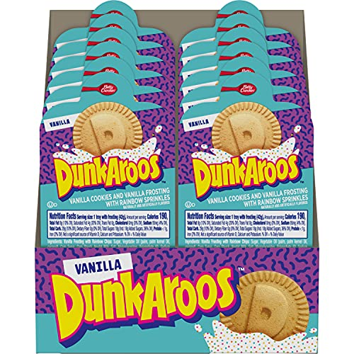 Betty Crocker Dunkaroos Vanilla Cookies & Vanilla Frosting, 12 Count (Case of 6)