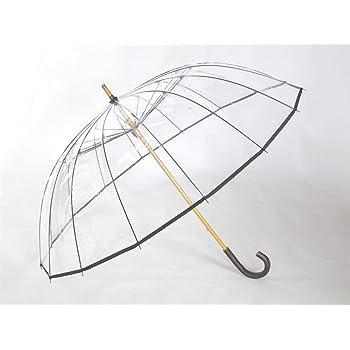ホワイトローズ かてーる16桜 ビニール傘 収納袋付き 日本製 透明ビニール傘 カテール16桜 (ネイビー)