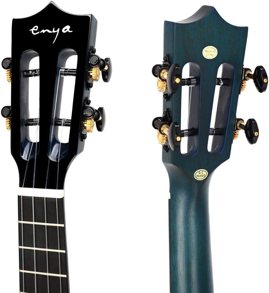 Enya EUT-MAD Tenor Ukulele Solid Gloss Mahogany 26 Inch Wiping Black with High-end 15mm Padded Gig Bag