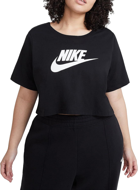 Nike Sportswear Women's T-Shirt (Plus Size) Womens DJ2748-010 (Black),