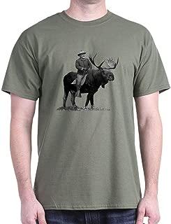 CafePress Teddy Roosevelt Riding A Bull Moose Cotton T-Shirt