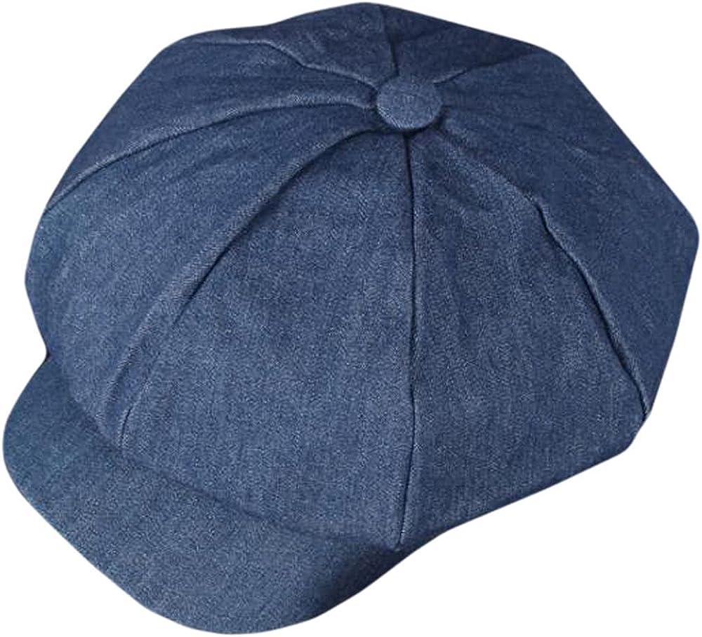 Qunson Women's Vintage Cotton Newsboy Cabbie Hat Cap