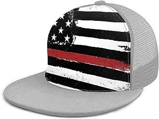 SLHFPX Baseball Cap Mesh Back Retro American Flag Vintage USA Flag Trucker Hats Adjustable Snapback Sun Cap