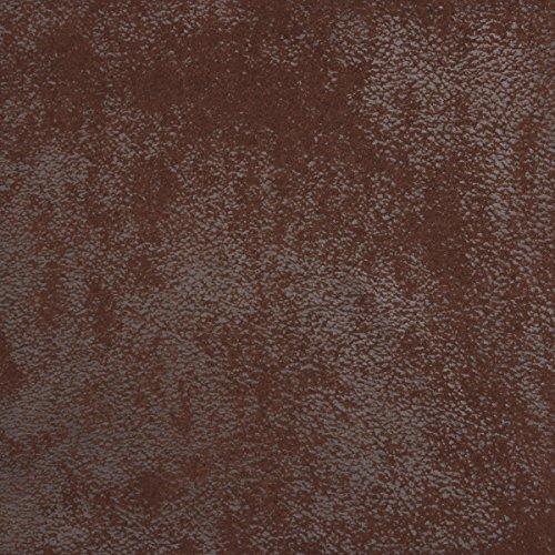 In 7 Farben erhältlich! Madagaskar Struktur-Polster-Bezug-Fleece-Velours-Microfaser-Stoff Wild-Leder Optik Meterware Dark Brown