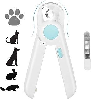 ناخن گیر و موبر Yoobure Cat Dog ، ناخن ناخن حیوان خانگی با نور LED برای جلوگیری از برش بیش از حد ، پرونده ناخن پنهان