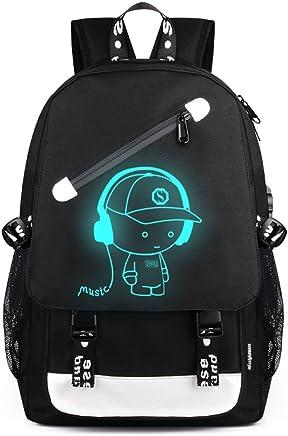 Aibecy Men Backpack Fashion External USB Charging Laptop Mochila Cartoon Anime Student School Bags For Teenagers