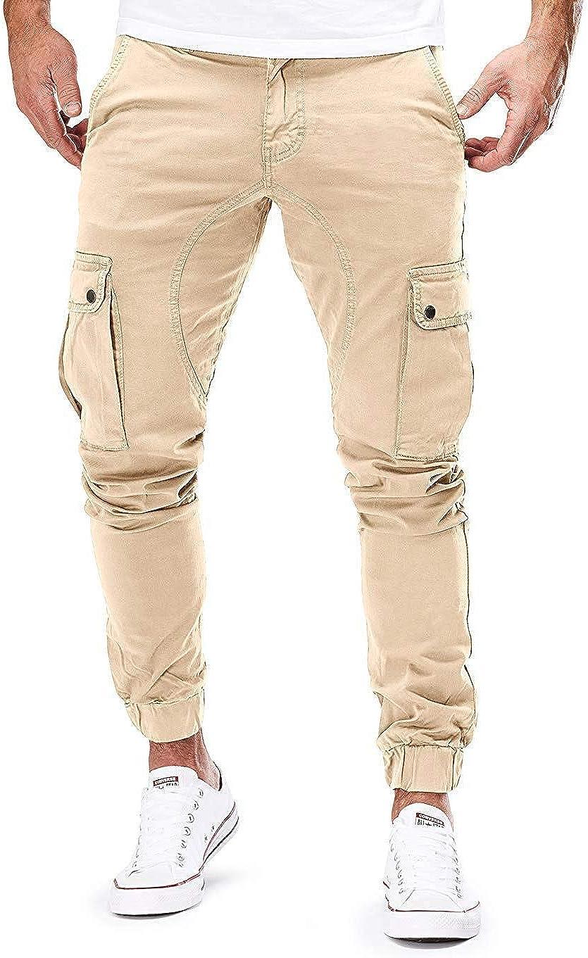 kaimimei Men's Casual Sports Pants Workout Sport Sweatpants Trousers Personality Hip-Hop Fitness Long Pants
