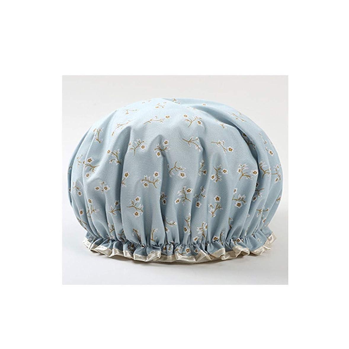 無駄連続した不完全HENGTONGTONGXUN シャワーキャップ、防水シャワーキャップ、大人用シャワーキャップ、シャンプーキャップ、かわいいスカーフ、キッチンレディーススカーフ、三仕様 (Color : C blue)