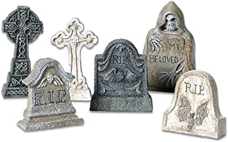 Department 56 Halloween Accessories for Village Collections Tombstones Figurine Set, Multiple Sizes, Multicolor