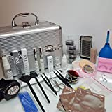 XXL Lashes Profi Kit de Extensiones de Pestañas Postizas Individuales Maquillaje Color plata