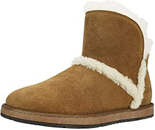Womens Sheepskin Ankle Boots Shearling Short Snow Boots