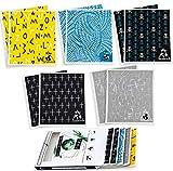 FEBU - Swedish Dishcloths for Kitchen | Bulk 10 Pack Gift Minimalist Zero Waste Cellulose Sponge Cloths | Non Scratch Dish Sponge | No Odor, Biodegradable and Reusable Swedish Sponge Cloth