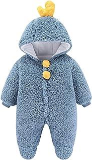 طفل الفتيان الفتيات رومبير الشتاء الوليد الدافئة الصوف أبلى بذلة الزي ملابس الأطفال (Color : Blue, Size : 0-3 Months)