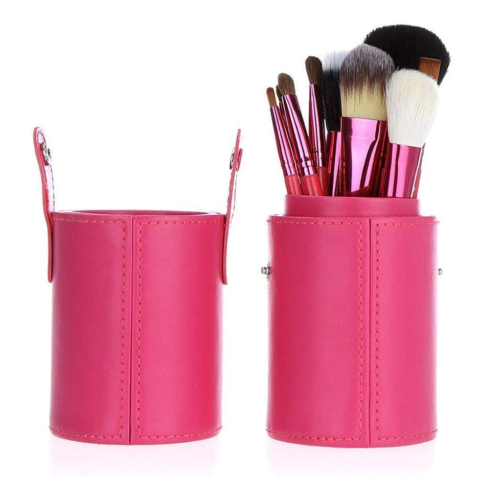 織機社会学製作12個メイクブラシセットプレミアム合成財団ブラシブレンディングフェイスパウダーブラッシュパウダーリキッド?クリーム化粧品のブレンディングブラシツール (Size : Pink)