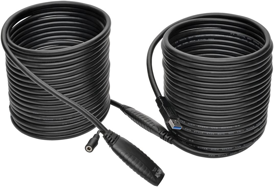 Tripp Lite USB 3.0 SuperSpeed Active Extension Cable Repeater Cable (USB-A M/F) 15M 49' (U330-15M)
