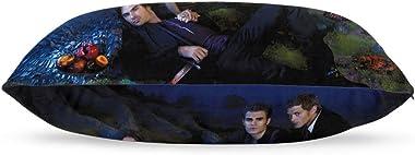 "Th-e Va-mp-ire D-iari-ES Throw Pillow Case Cushion Cover Soft Square Pillowcase for Home Sofa Car Bed Room Decor 20"" X 30"