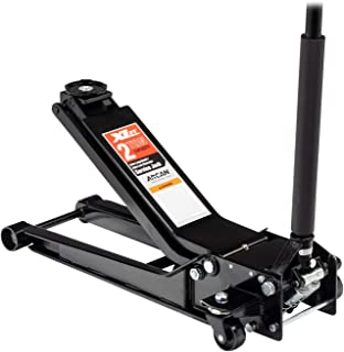 Arcan 2 Ton Extra Long Reach Low Profile Steel Floor Jack XL2T, Black
