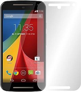Slabo 4 x skärmskyddsfolie Motorola Moto G 2. Generation skärmskydd skyddsfolie Crystal Clear osynlig MADE IN GERMANY