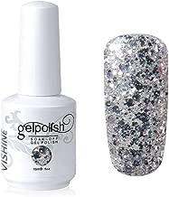 Vishine Gelpolish Long-lasting Gel Nail Polish Lacquer Shiny Color Soak Off UV LED Manicure Glitter Silver (1853)