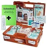 Erste-Hilfe-Koffer QUICK - PLUS DIN/EN 13157 + DIN/EN 13164 von HM-Arbeitsmedizin inkl. Verbandbuch + Hygieneset S