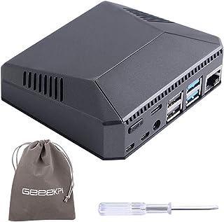 GeeekPi - Carcasa para Argon One Raspberry Pi 4, de aluminio, con ventilador, disipador de calor, botón de encendido, comp...
