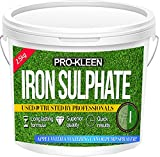 Pro-Kleen 2.5 KG PREMIUM Iron Sulphate (Makes up to 2500L When Diluted & Covers up to 2500m2) Pure Lawn Tonic- Ferrous Sulphate of Iron Lawn Conditioner and Turf Hardener. Dry Powder easily soluble in water